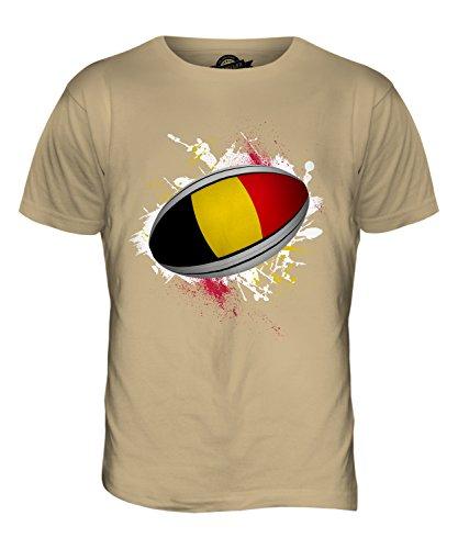 CandyMix Belgien Rugby Ball Herren T Shirt Sand