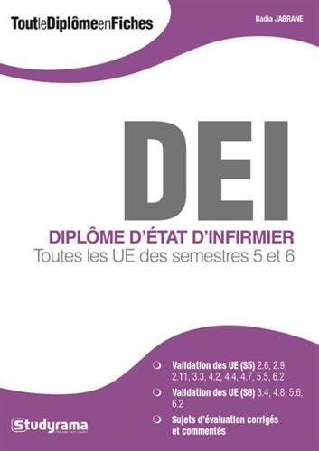 Tout le diplôme d'infirmier : Toutes les UE des semestres 5 et 6