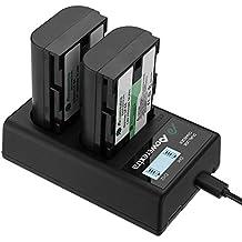 Powerextra Lot de 2 Batteries Canon LP-E6 2600mAH et Chargeur à 2 Batteries avec Ecran LCD pour Canon EOS 80D 6D 7D 70D 60D 5D Mark III 5D Mark II BG-E14 BG-E11 BG-E9 BG-E7 LC-E6 BG-E6