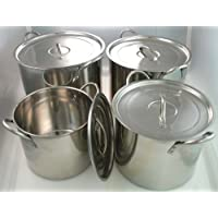 4 Piece Stainless Steel Stock Pot Set