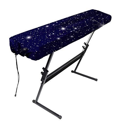 QEES JJZ447 Keyboard-Abdeckung für 61 und 88 Tasten, staubdicht, Strecthable Klaviernoten