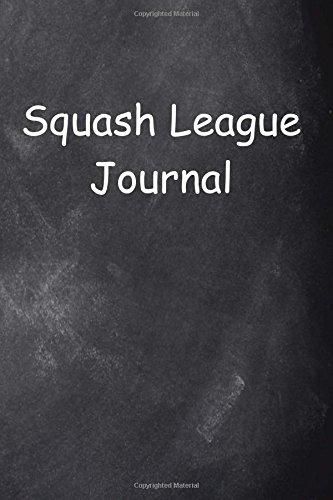 Squash League Journal Chalkboard Design: Notebook, Diary, Blank Book di Distinctive Journals