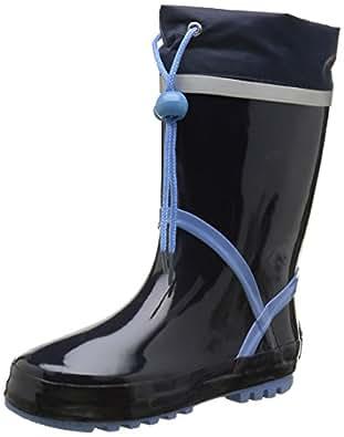 Playshoes Gummistiefel Basic 184307, Mädchen Gummistiefel, Blau (marine/bleu 639), EU 20/21