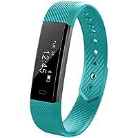 Pulsera Inteligente Sports Fitness Tracker Step Counter Pulsera Impermeable Reloj Elegante para Hombres Y Mujeres,Pink