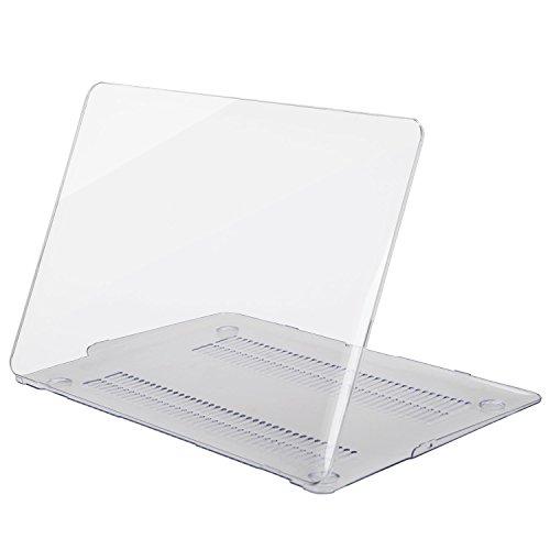 MOSISO MacBook Air 13 Hülle - Ultra Slim Hochwertige Plastik Hartschale Tasche Schutzhülle Snap Case für MacBook Air 13 Zoll (A1466 / A1369), Klar/Kristall