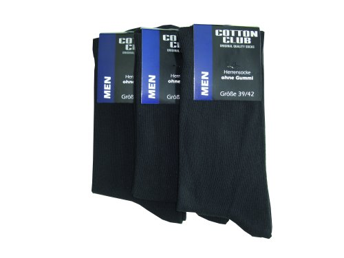 4 Paar Herren Socken ohne Gummi Cocain 1//1 Rippe 100/% BW dunkelblau 39 bis 46