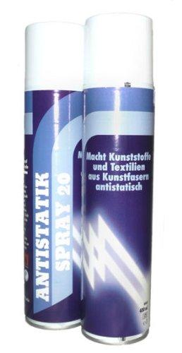 Antistatik-Spray, farblos, macht Kunststoffe und Kunstfasern antistatisch, 1 x 400ml