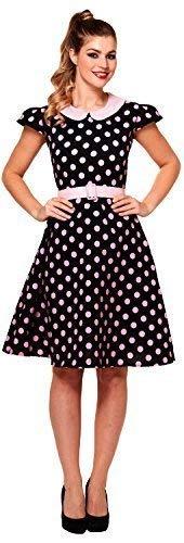 Vintage Kostüm Buch - Fancy Me Damen 1950s Jahre 50s Jahre Gepunktet Tag Kleid Tv Buch Film Retro Vintage Kostüm Kleid Outfit 8-12