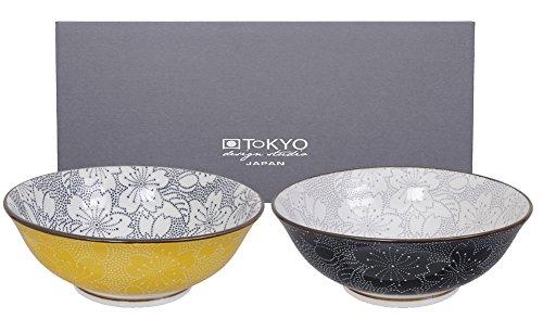 Design-porzellan Seifenschale (TOKYO design studio, Sakura, Schüssel Set 2x19,7cm, Japan, rund. Zwei Schalen in dekorativer Geschenkbox. Schüsseln Porzellan Set.)