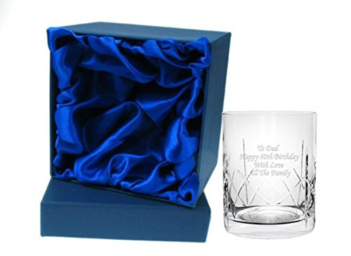 Personalised Crystal Whisky Tumbler in Silk Giftbox