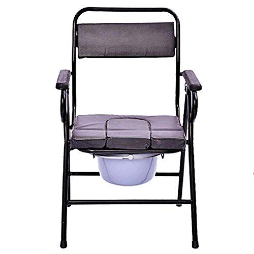 QIAN Schwangere Frauen, ältere dicke Stahl Klappstuhl Toilette Toilette Toilettenstuhl bewegen (Kunststoff-stahl-klappstuhl)