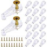 Homgaty 150 verpakkingen glazen deur houder clips kit, 4mm offset, plastic glas panel clips duidelijk spiegel houder clips vo