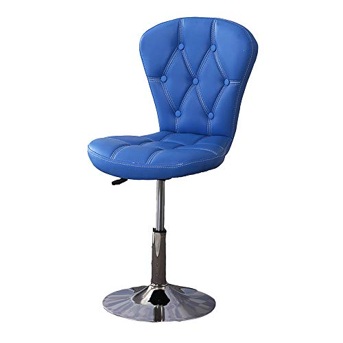 QFFL jiaozhengyi Wine Bar Chair, Küche Bar Chair Heben und Senken Rotary Rückenlehne Swivel Stuhl Stilvolle Bar Restaurant Hohe Barhocker (Farbe : Blau) -
