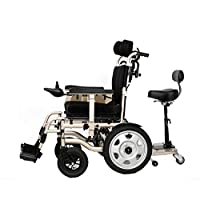 Foldable Power Compact Mobility Aid Wheel Chair,Lightweight Electric Wheelchair Portable Medical Scooter,Weighing Only 66 Pounds Without Battery - Supports 265 Lb,With Pedals And Seats,Lithiumbattery15a