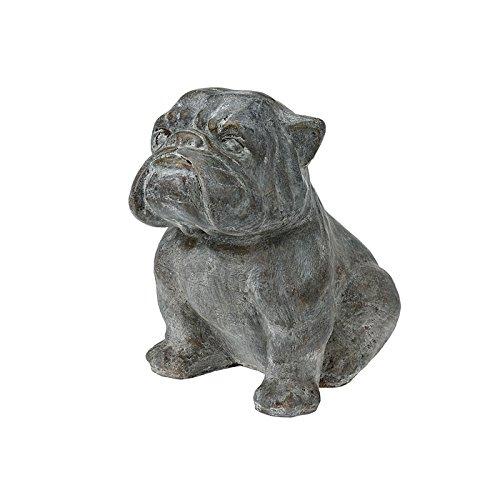 Dekofigur Hund Bulldogge 43x31x43cm Gartenfigur Dekoration Polyresin Skulptur -
