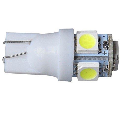 REFURBISHHOUSE 100PCS T10 Blanc 168 194 501 W5W 5 LED SMD Cote de la Voiture cale Ampoule Lampe DC 12V