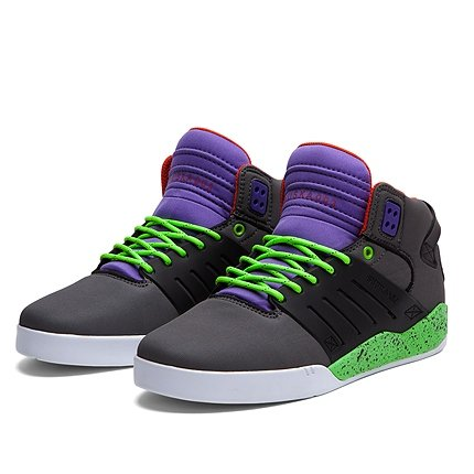 SUPRA Shoes SKYTOP III, colore: antracite/nero/lime-WHT, Grigio (grigio), 45 1/2