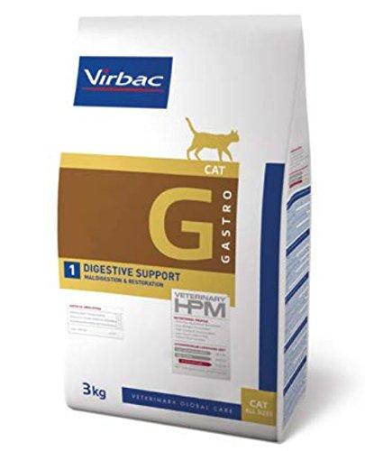 Virbac Veterinary HPM Cat Digestive Nourriture pour Chat Sac de 3 kg Taille S