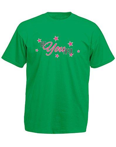 Brand88 - Brand88 - Be-You-Tiful, Mann Gedruckt T-Shirt Grün/Transfer