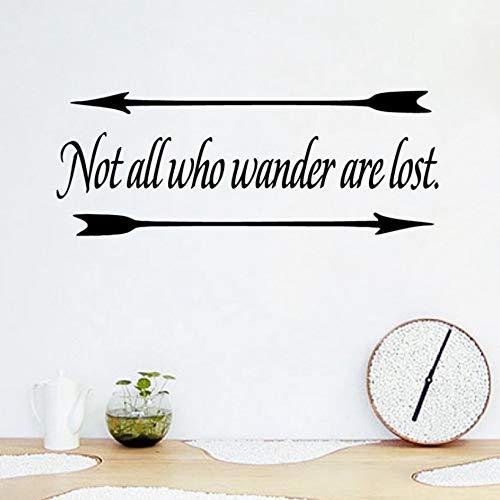 Yzybz Nicht Alle, Die Wandern, Sind Inspirierend Zitate Wandtattoos, Motivation Lyrics Vinyl Wandaufkleber Home Room Wall Decor Verloren (Lyrics Halloween Dieses)