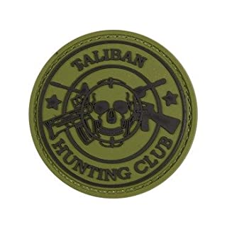 Alpha Tactical HOOK & LOOP PANEL RUBBER TALIBAN HUNTING CLUB PATCH (OLIVE GREEN)