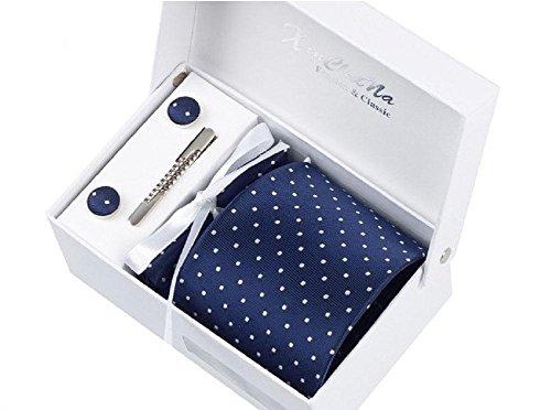 Uomo cravatta, fazzoletto, stickpins e gemelli pacco regalo (037)