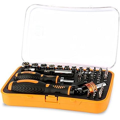 Xagoo® JAKEMY JM-6102 professionale Ratchet precisione 43 in 1 cacciavite Bit Set con prese Bit per il telefono mobile, Notebook Kit di riparazione strumento Mano