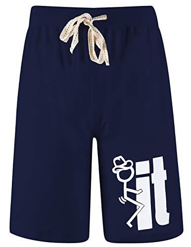 Arloesi uomo pantaloncini casual divertente in cotone (m, blu)