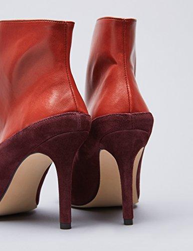 FIND Stivali con Tacco Alto Donna Rosso (Red)