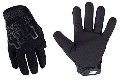 Seibertron tragen Mechaniker ursprüngliche Handschuhe Tactical Handschuhe (Schwarz+Schwarz Schreiben, M) - Sport e all'aperto