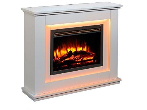 Chimenea eléctrica Castleton suite de vidrio frente a fuego eléctrico 220/240 VCA,...