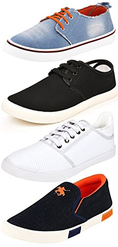 Ethics Perfect Combo Pack of 4 Stylish Sneaker Shoes for Men