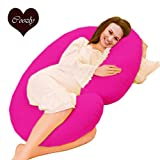 COOZLY C LYTE Pregnancy Pillow Fine Cotton Covers with Fibres C11 ,-3.5 Kg, 229 X 115 X 22 cm,Candy Pink