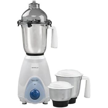 Havells Sprint 550-Watt Juicer Mixer Grinder (White and Blue)