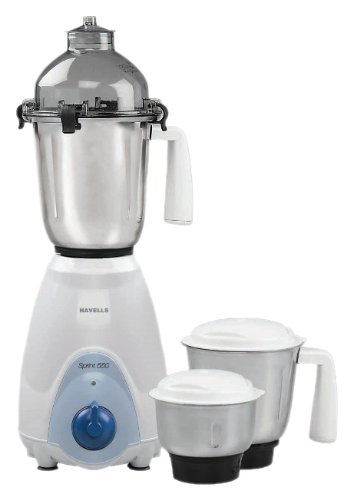 Havells Sprint 550-watt Juicer Mixer Grinder (white And Blue)