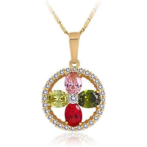 ZWX Altri colori/Collana di diamanti/ dolce stile/Piantare fiori/ singolo elemento-D