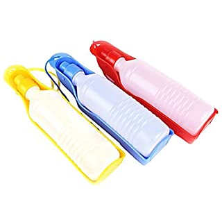 Ama-ZODE Wasserflasche für Hunde und Katzen, für unterwegs, Kunststoff, 500ml