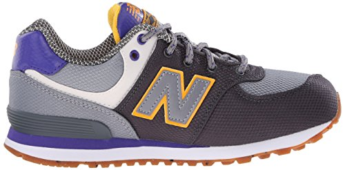 New Balance Unisex-Kinder K_574v1d Low-Top Schwarz/Grau/Lila