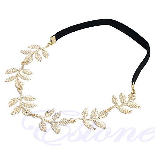 Haptian Griechische Göttin Peace Angel Golden Olive verlässt elastisches Haarband Stirnband Vintage(Golden-1Stück)