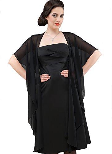 Chiffon Stola Chiffonschal perfekt zu jedem Brautkleid - Abendkleid, Hochzeit Abend Gala Empfang -...