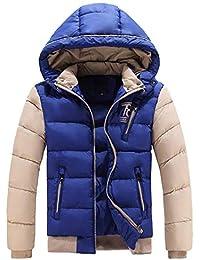 Laisla fashion Giacca Invernale da Uomo Giacca con Cappuccio Giacca  Invernale Giacca Calda Classiche Cappuccio Tasche 53b2c4baab7