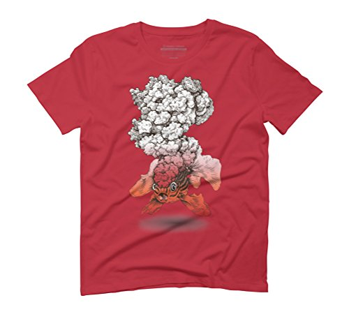 Volcano Fish Men's Graphic T-Shirt - Design By Humans Red