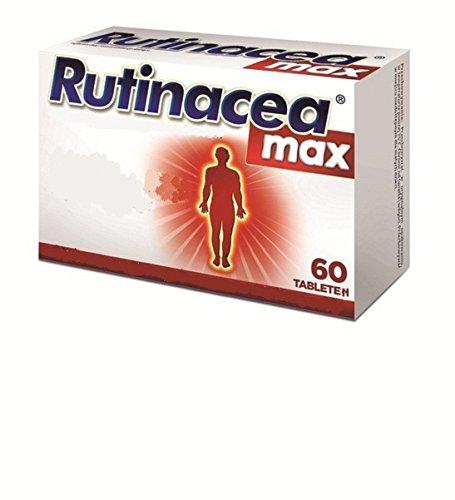 Vitamin C mit Rutin, Zink, Selen, Zitrusflavonoiden - bei Erkältung, Halsschmerzen, gegen Grippe, für intaktes Immunsystem, kräftigt Kapillargefäße bei Krampfadern, Hämorrhoiden, hilfreich bei Arthritis, Rheuma, Hautkrankheiten, Rutinacea, Rutinoscorbin, 60 Tabletten, von herbagarten Shop