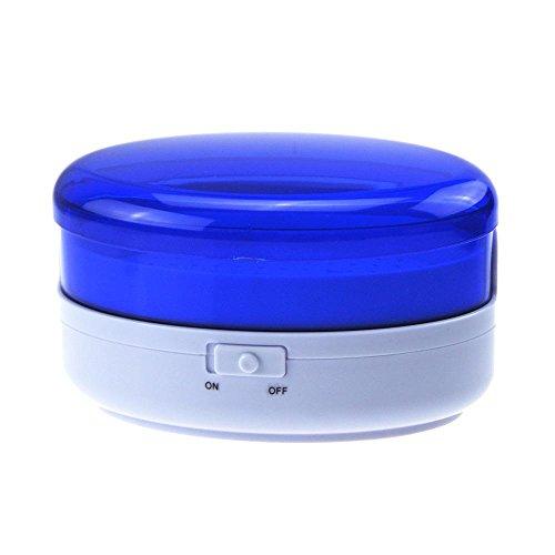 KOBWA Ultraschallreiniger USB Lade Tragbare Mini Schmuck Waschmaschine zur Reinigung Schmuck Uhren Ringe Brillen Zahnersatz Kommerziellen Heimgebrauch(Blau) - Kommerziellen Uhr