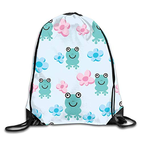 Naiyin Frog Drawstring Backpack Bag Rucksack Shoulder Sackpack Sport Gym Yoga Runner Beach Hiking Dance -
