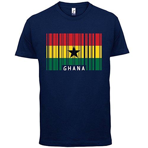 Ghana / Republik Ghana Barcode Flagge - Herren T-Shirt - 13 Farben Navy