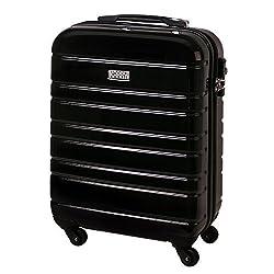 Handgepäck Hartschalen Koffer Trolley Case Kurzreisen TSA Schloss Schwarz 816