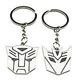 Chuzhao Wu Metal níquel llavero clave cadena Transformers forma para los amantes Sweethearts regalo del día de San Valentín (Pack de 2)