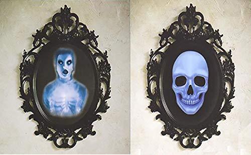 B-Creative Haunted Spiegel Klammern beängstigenden Schädel Ghost Halloween Dekoration klebt an Surface Premium Dekor