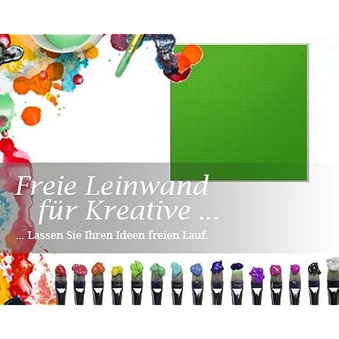 Bilderdepot24 Tela in verde, di pitturare, premium